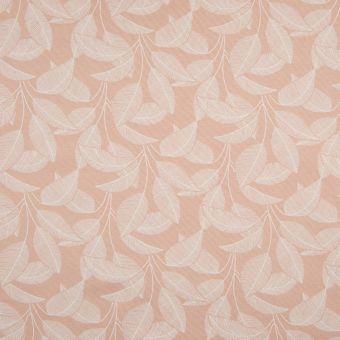Sweatshirtstoff Bio Baumwolle Blätter rosa