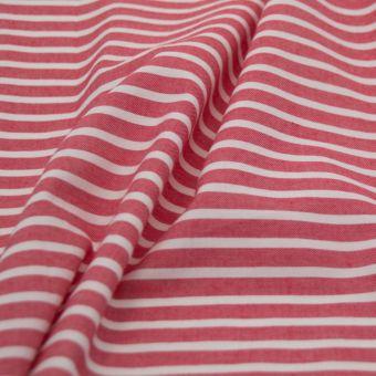 Chambray Bio Streifen Rot