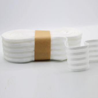 Elastisches Band Satinstreifen 50mm weiß