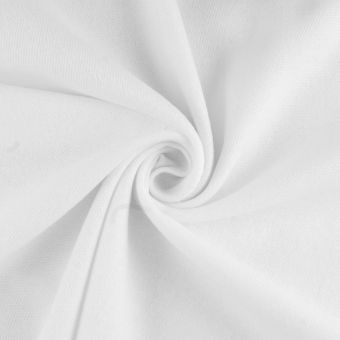 Sweatshirtstoff Bio Weiß