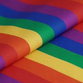 Twill Polyester Streifen Bunt
