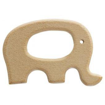 Beißring aus Holz Elefant