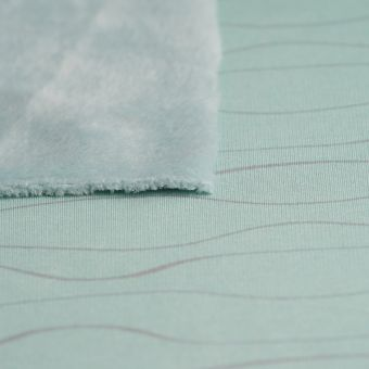 Alpenfleece Blau Welle