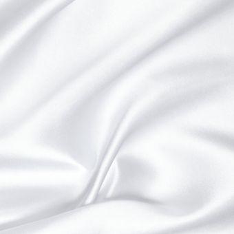 Einfarbiger, weißer Satinstoff