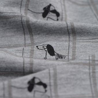 Jersey Baumwolle Polyester Detektivhunde