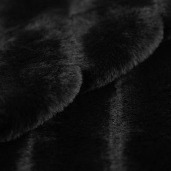 Kustpelz gesteppt schwarz