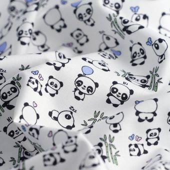 Popeline Bio Baumwolle Pandas