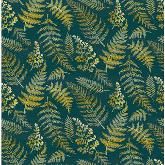 Jacquard polyester Grün Farn