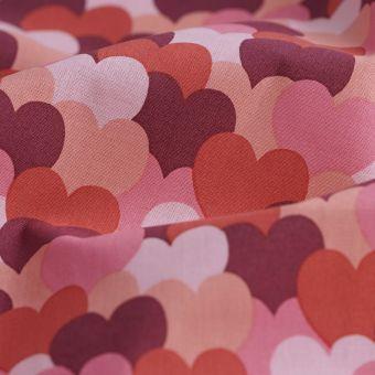 Cretonne Bio Baumwolle Herz Love