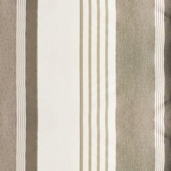 Wasserabweisender Anti-UV gestreifter Outdoorstoff 150 cm taupe weiß