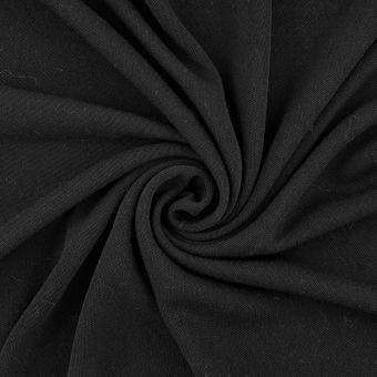 Jersey Polyester recycelt Schwarz