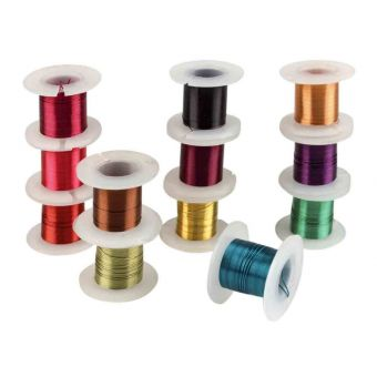 Metalldraht Häkeldraht Durchmesser 0,4mm 3 m Sortiment von 12
