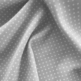 Piqué-Stoff Baumwolle Punkte grau
