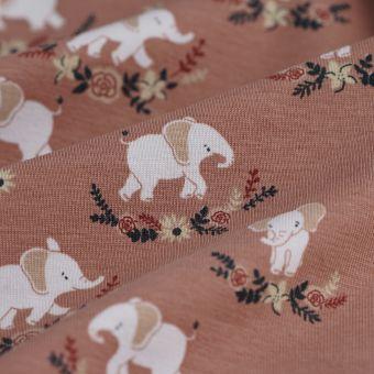 Jersey Baumwolle Elefant Rosa