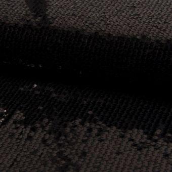 Paillettenstoff einfarbig Schwarz