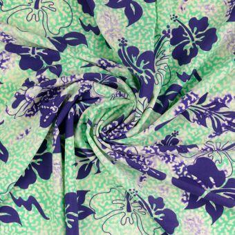Stoff für Badeanzug Blumen