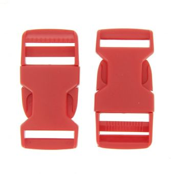 Rote Schnellverschlussschnallen aus Kunststoff 25 mm
