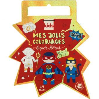 Kinder-Malbuch mit Folie 24 Seiten Super Heroes