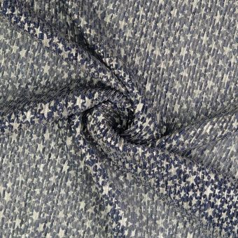 Musselin grau Sterne