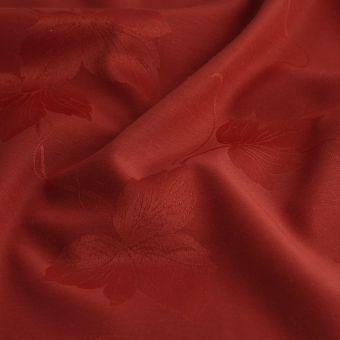 Tischtuchstoff Blumen Rot