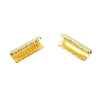 Spitzenklammer oder goldene Bandspitze 4 Stück