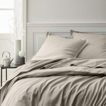 Bettbezug Baumwollperkal Perkal Beige 140 x 200 cm