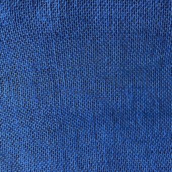 Einfarbiger Jute-Stoff blau