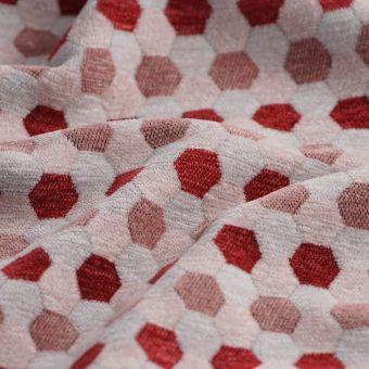 Samtstoff Bienenwaben rosa