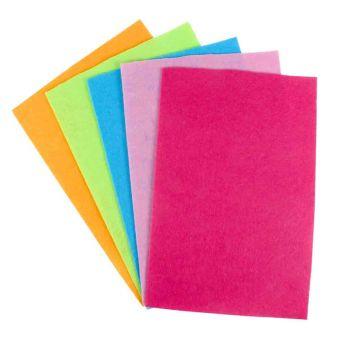 Filz 20x30 cm Trendfarben-Sortiment 5 Stück