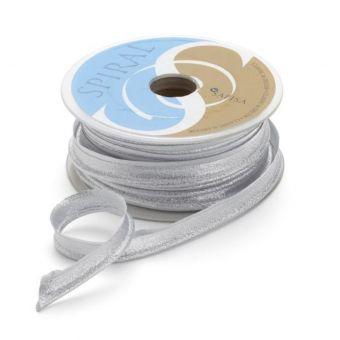 Metallic-Paspel - Silber 17 mm
