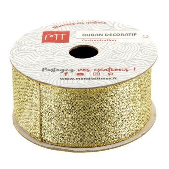 Spule Band gold glänzend 26 mm