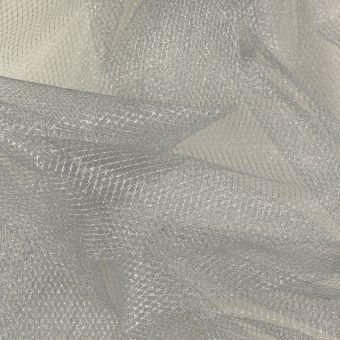Netzstoff Lurex silberfarben
