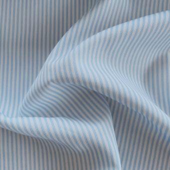Piqué-Stoff Baumwolle Streifen blau