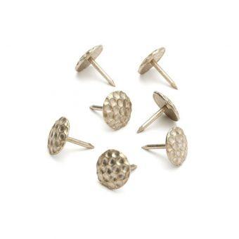50 Polsternägel, Wabenmuster Aluminium 12 mm