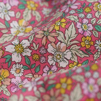 Cretonne Blumen rosa