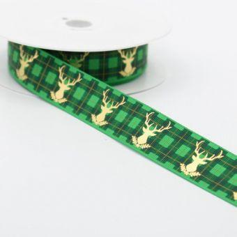 Band Weihnachten Karos grün